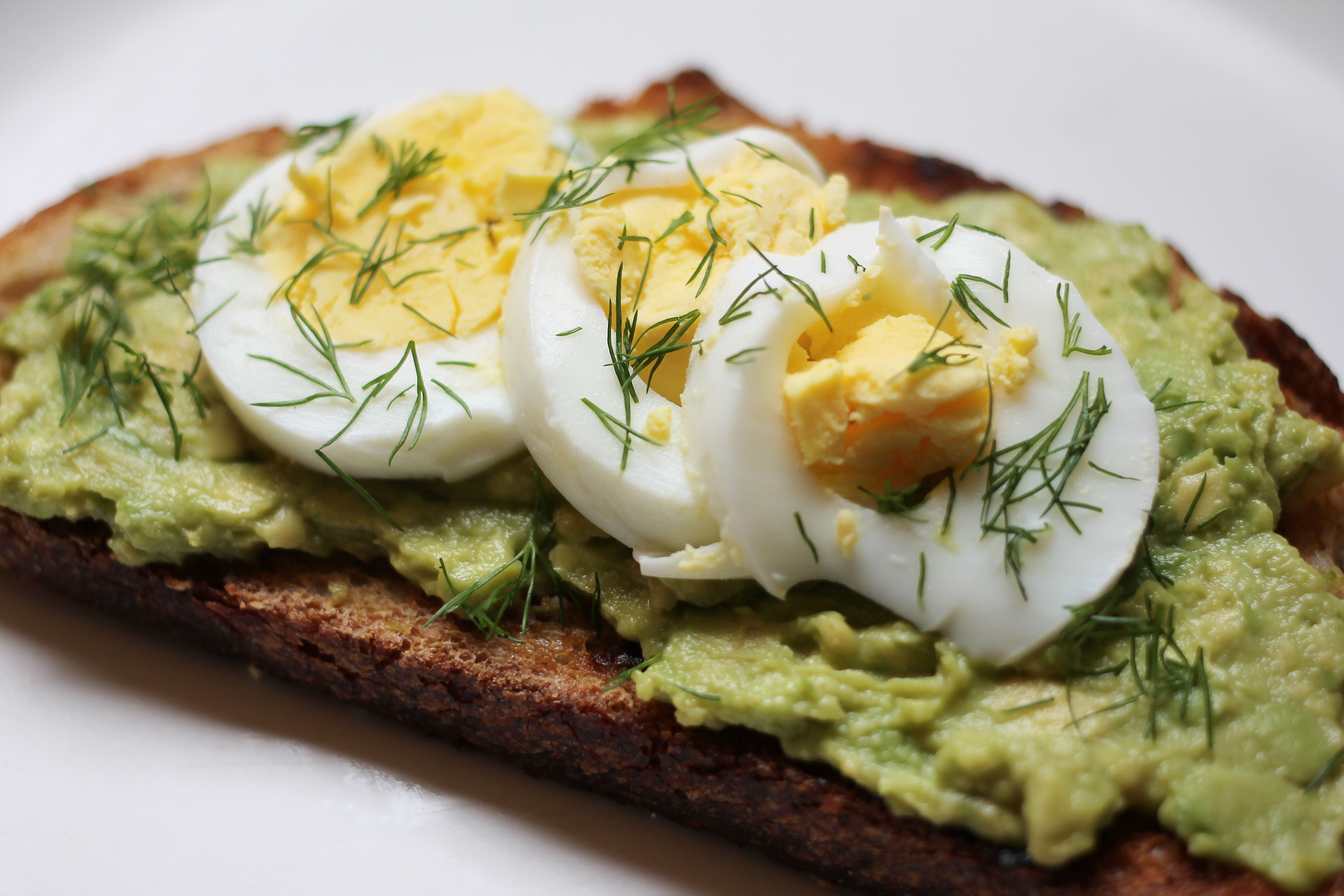 Avocado Toast with Egg and Dill