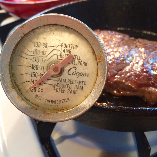meat thermometer ribeye steak