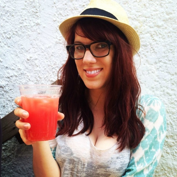 Watermelon Agua Fresca from the old Rockaway Taco, May 26th, 2014. Perfect juice. Perfect hair. That was a good day.
