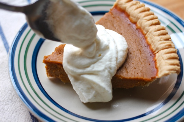mason jar whipped cream pumpkin pie