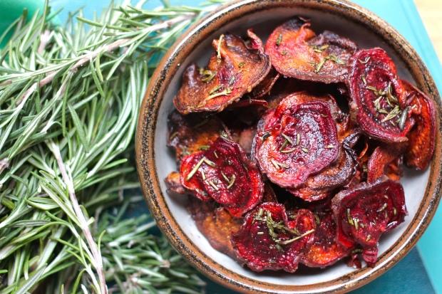 rosemary beet chips