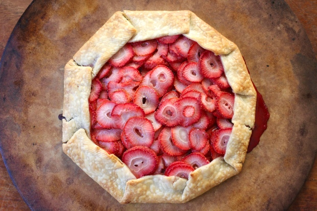 dark chocolate strawberry galette