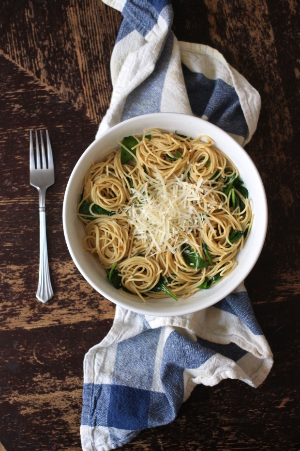 Spinach Parmesan Pasta