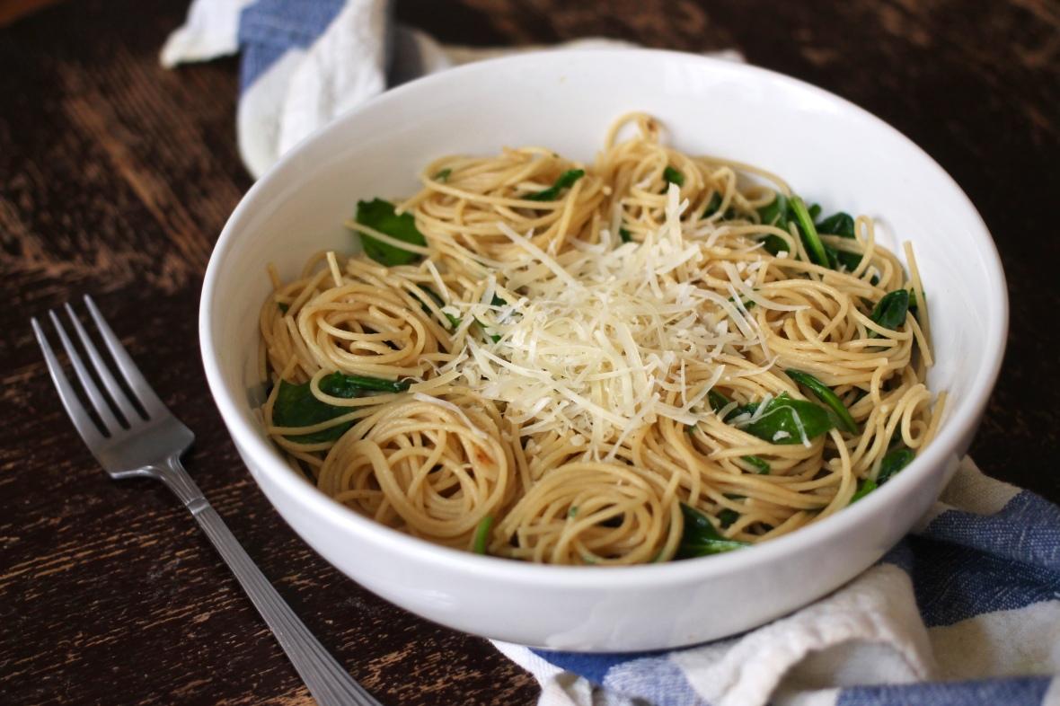 Spinach Parmesan Pasta