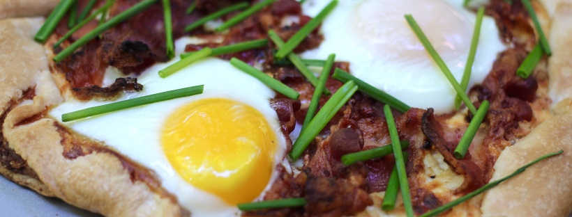breakfast galette bacon eggs chives
