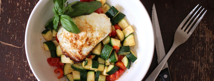 sautéed zucchini and tomatoes with basil