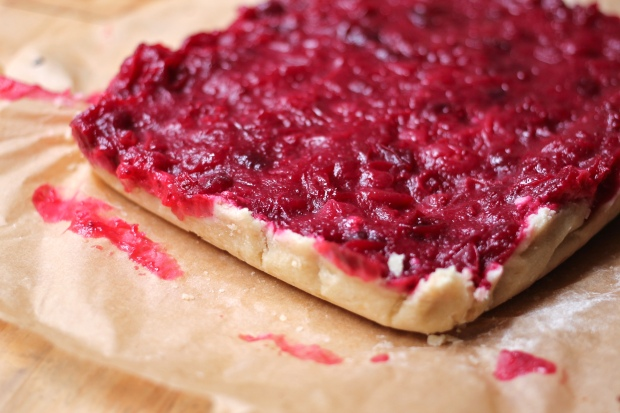 cranberry shortbread tart