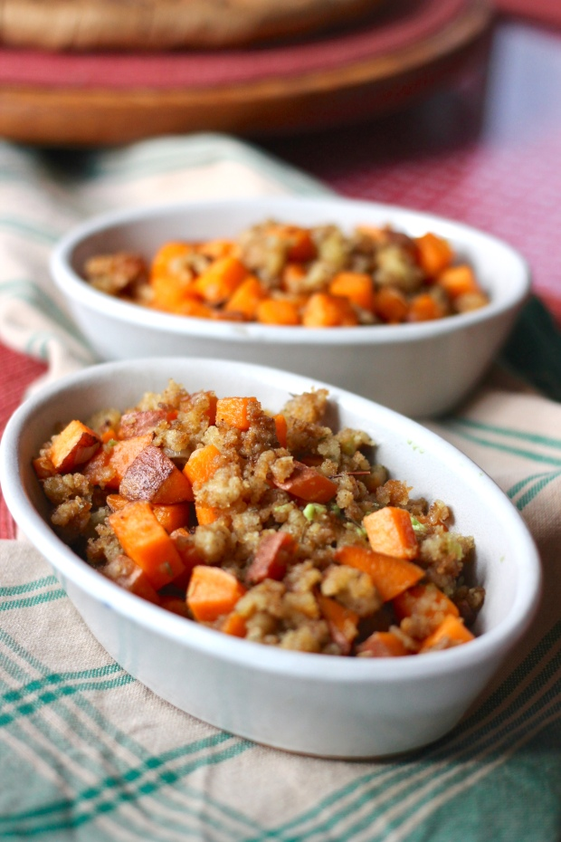 sweet potato stuffing hash
