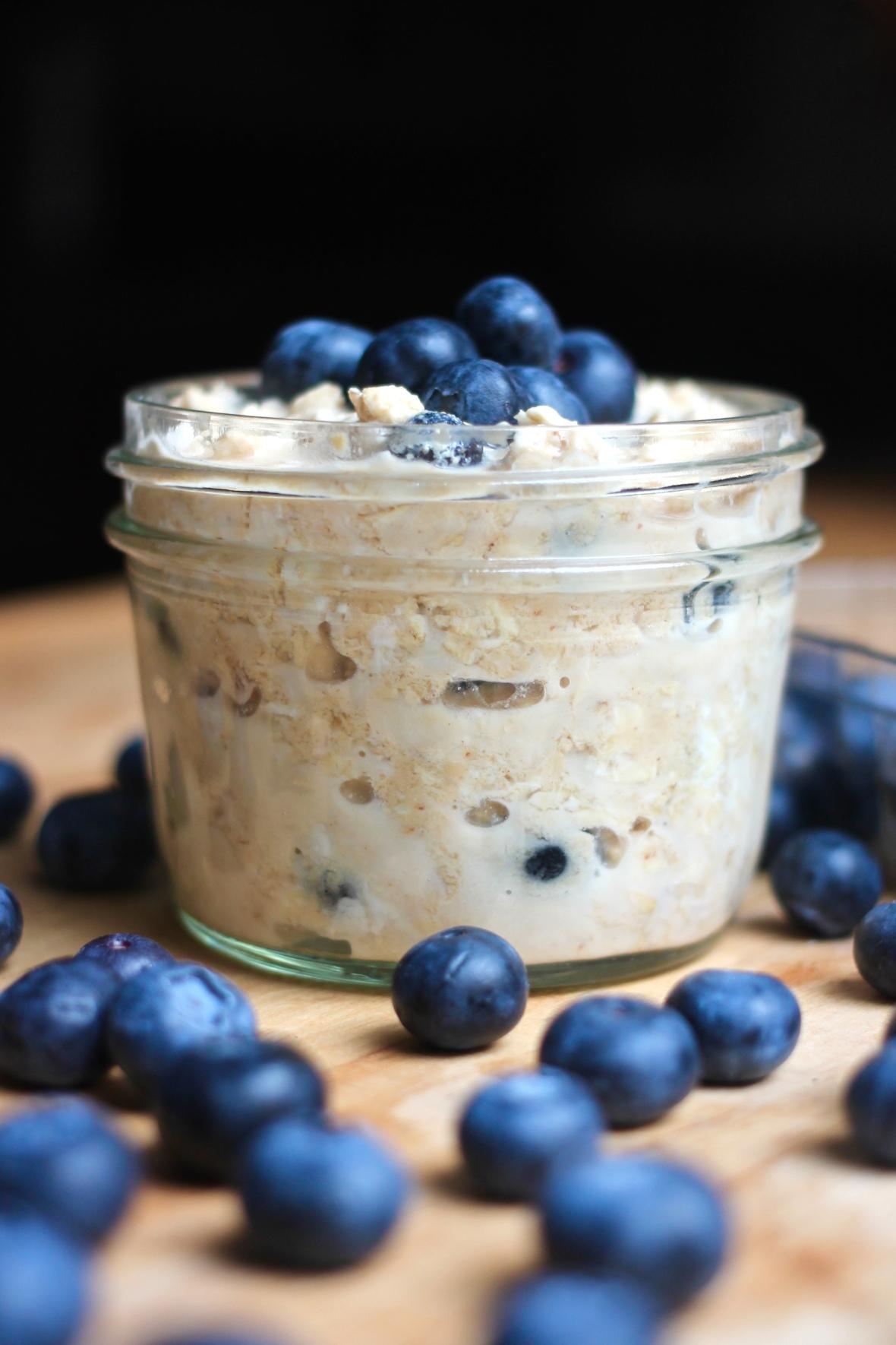 Peanut Butter Blueberry Overnight Oats