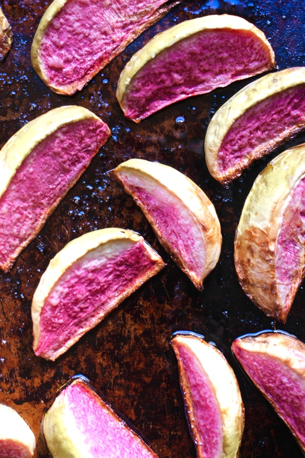 Roasted Watermelon Radishes