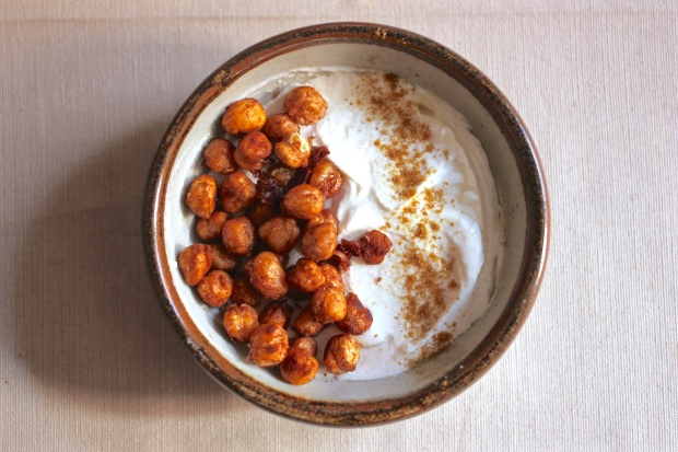 Roasted Cinnamon Chickpeas with Savory Yogurt