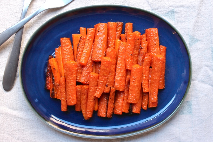 cumin garlic roasted carrots