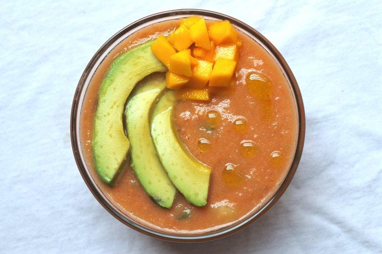 classic gazpacho avocado mango