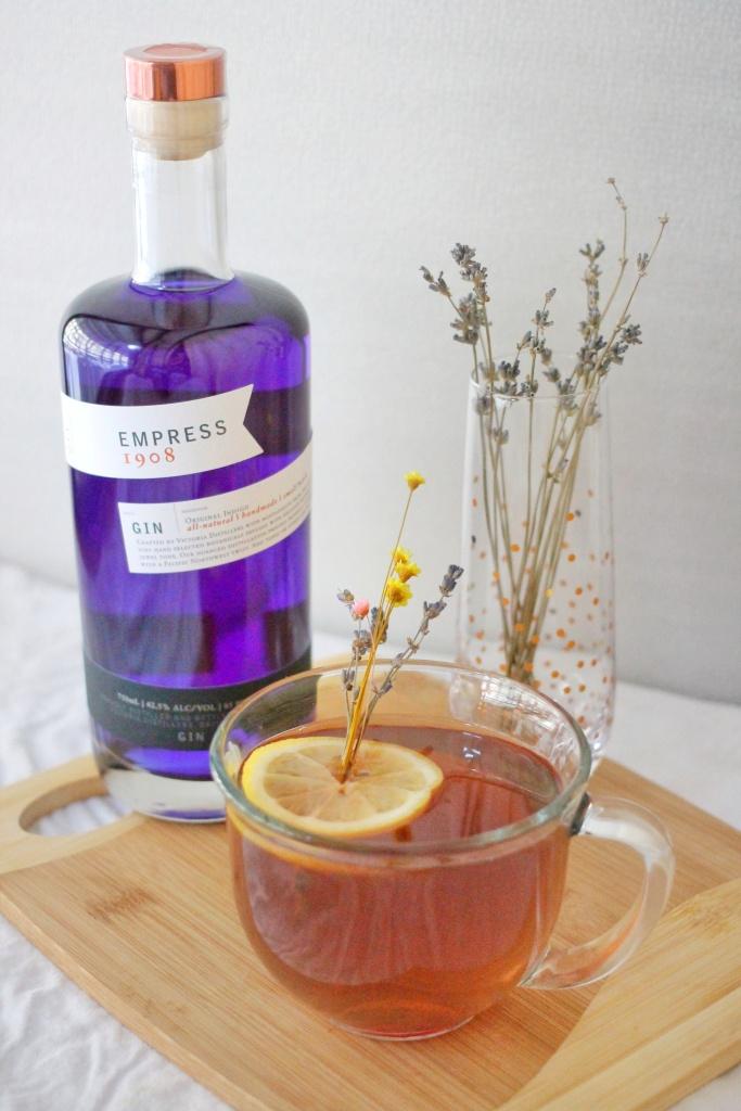 Jasmine Tea Hot Toddy with Empress 1908 Gin
